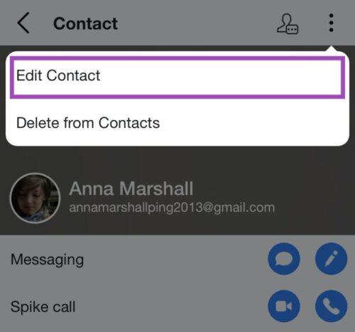 Spike contact list