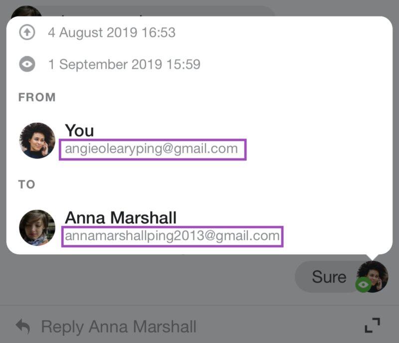 email sender recipient