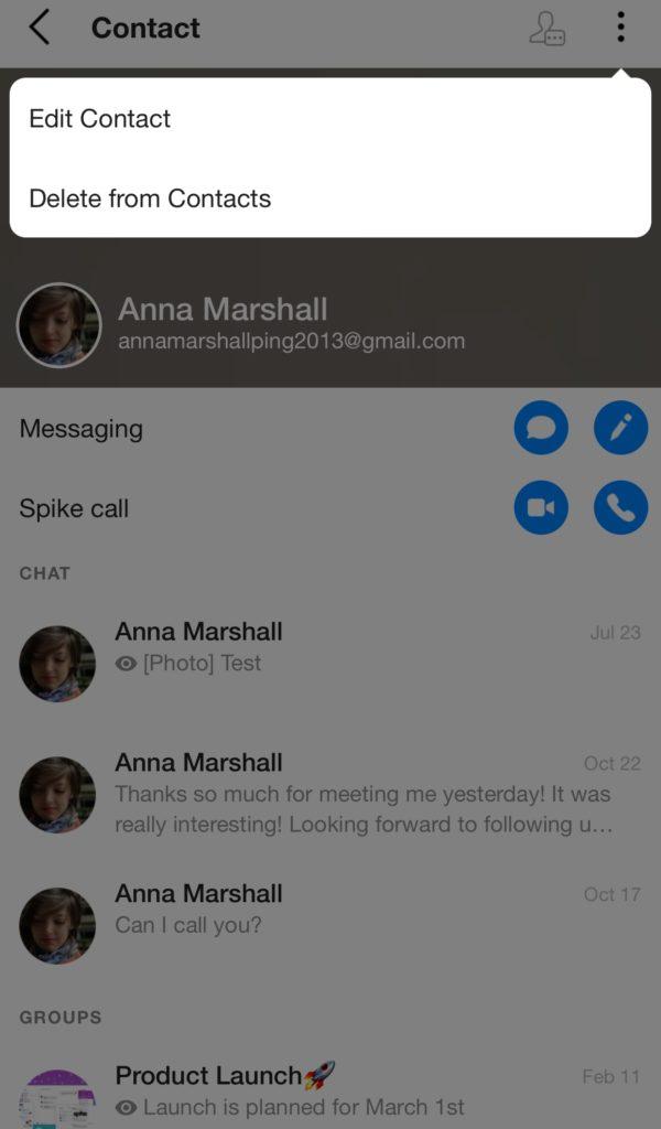 Delete contact