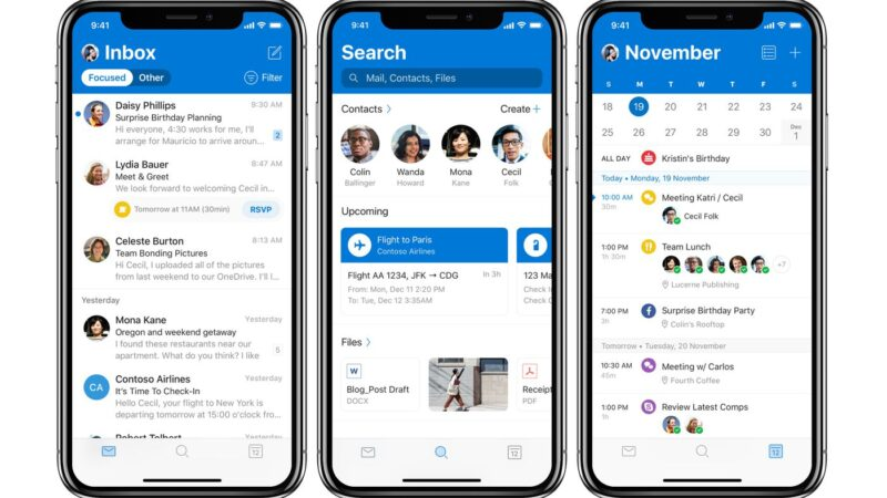 email app on iphone