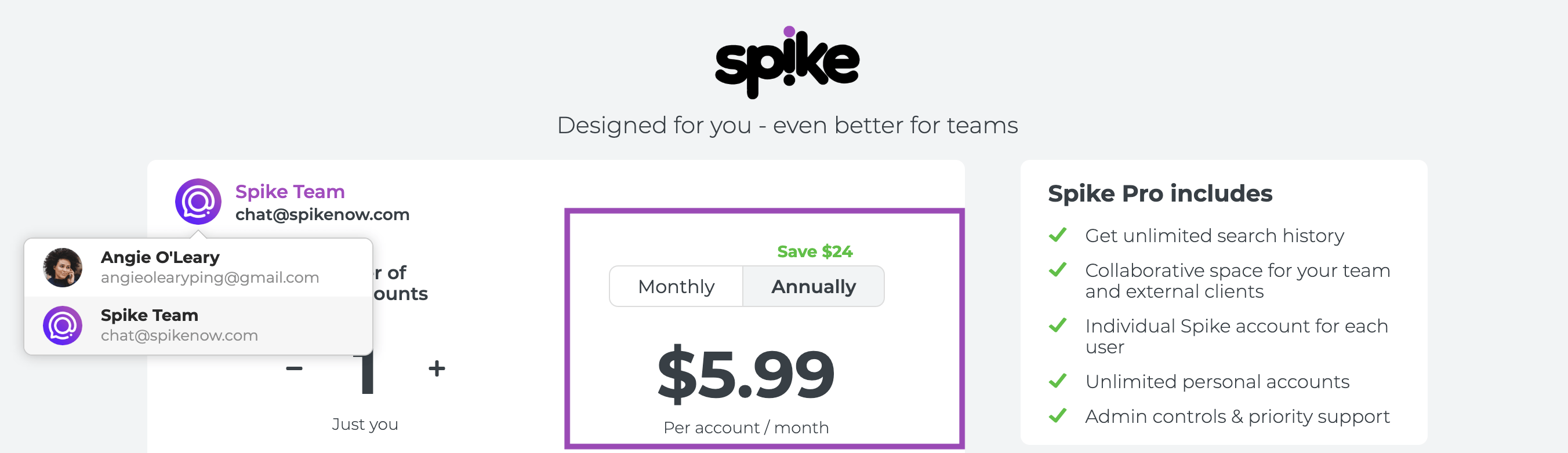 Spike subscription