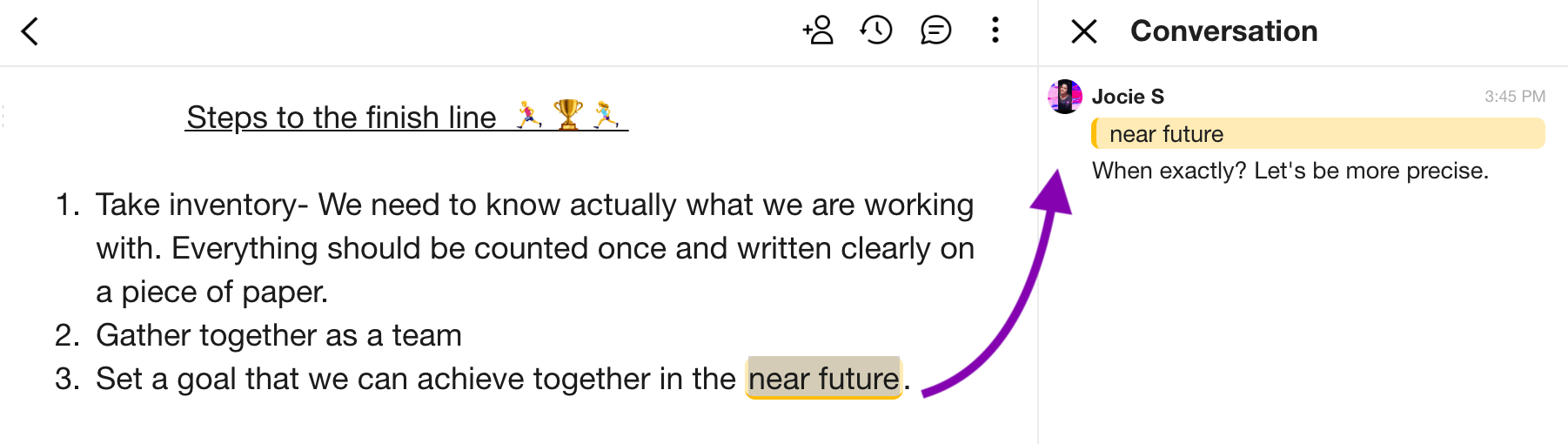 Collaborate in email