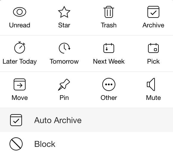 Auto archive